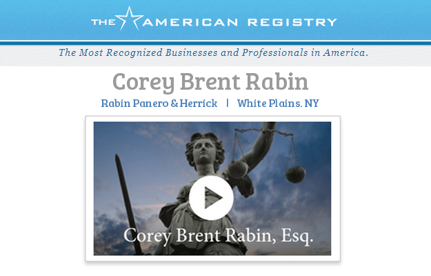 Corey Brent Rabin - The American Registry - Recognized Businesses and Proferssionals in America - 2014